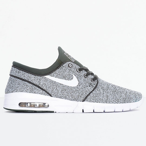 Nike SB Janoski Air Max Sequoia, White Skate Shoes